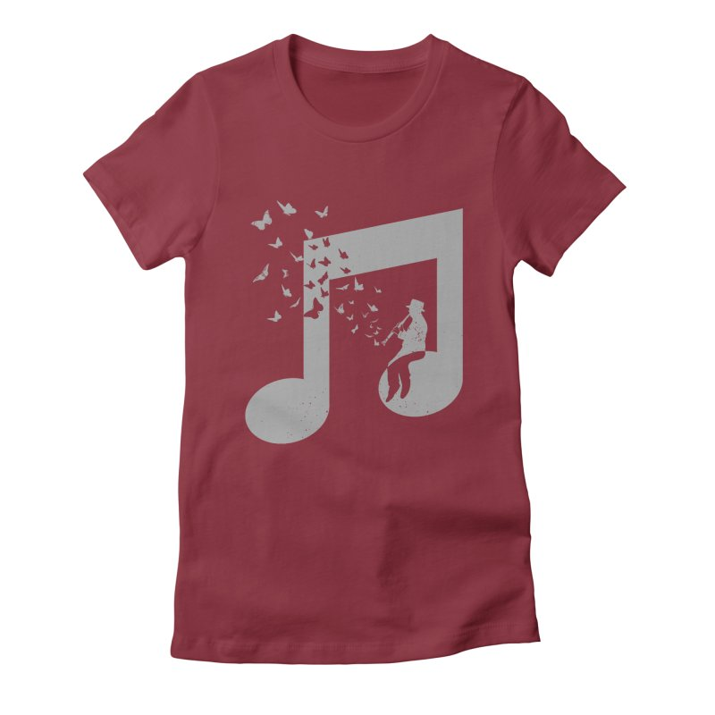 Clarinet Music Women's Fitted T-Shirt by barmalisiRTB