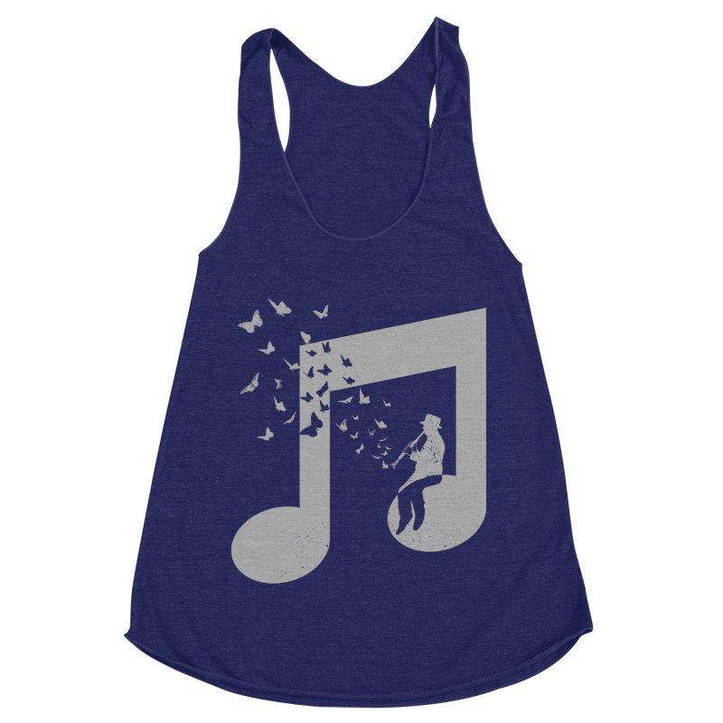 Clarinet Music Women's Racerback Triblend Tank by barmalisiRTB