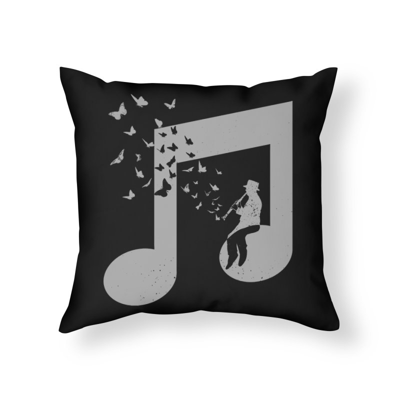 Clarinet Music Home Throw Pillow by barmalisiRTB