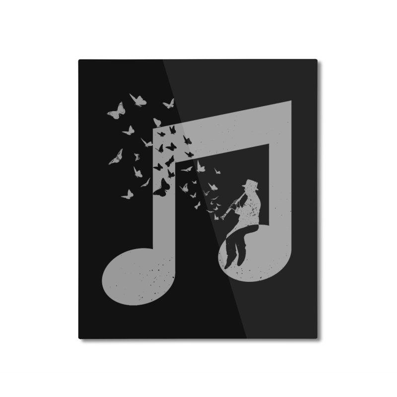 Clarinet Music Home Mounted Aluminum Print by barmalisiRTB