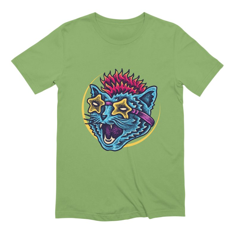 Funky Cat style Men's Extra Soft T-Shirt by barmalisiRTB