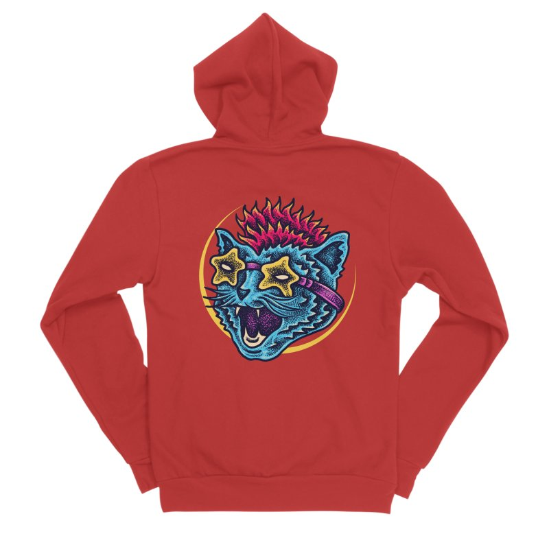 Funky Cat style Men's Zip-Up Hoody by barmalisiRTB
