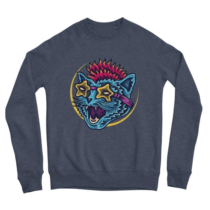 Funky Cat style Women's Sponge Fleece Sweatshirt by barmalisiRTB