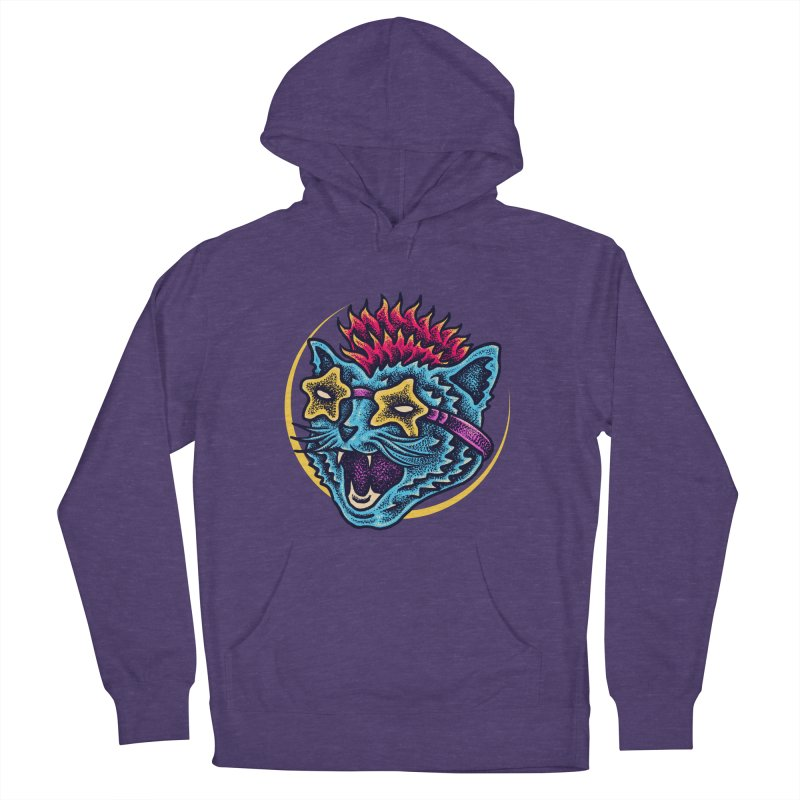 Funky Cat style Women's French Terry Pullover Hoody by barmalisiRTB