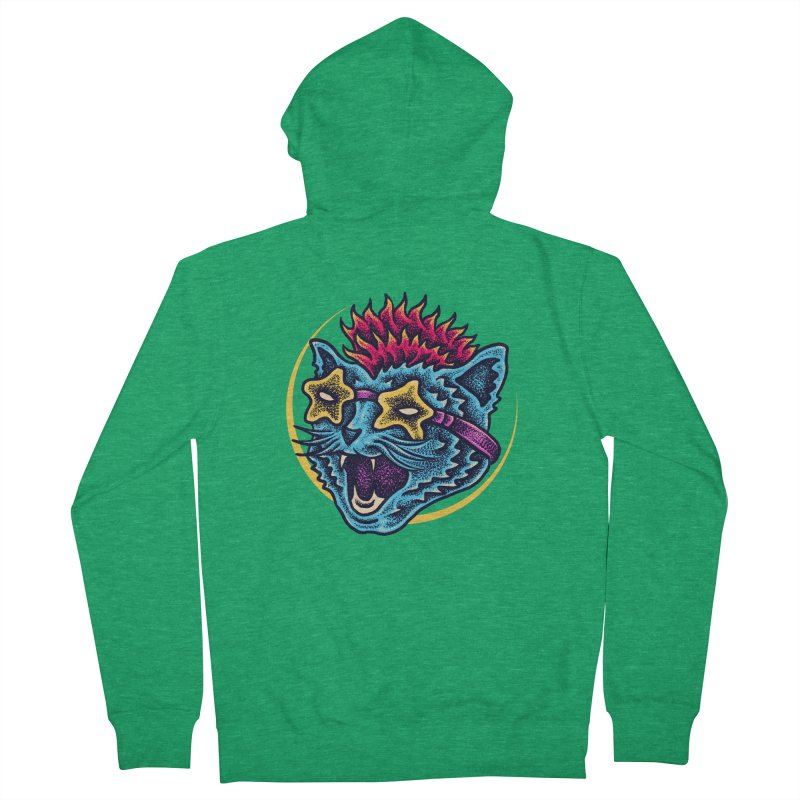 Funky Cat style Women's French Terry Zip-Up Hoody by barmalisiRTB