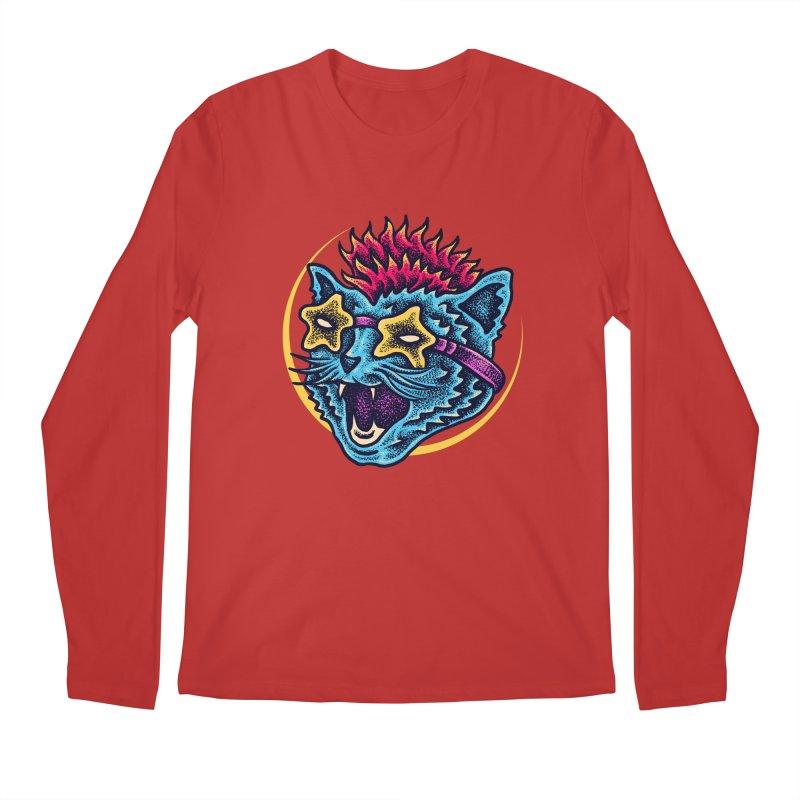Funky Cat style Men's Regular Longsleeve T-Shirt by barmalisiRTB