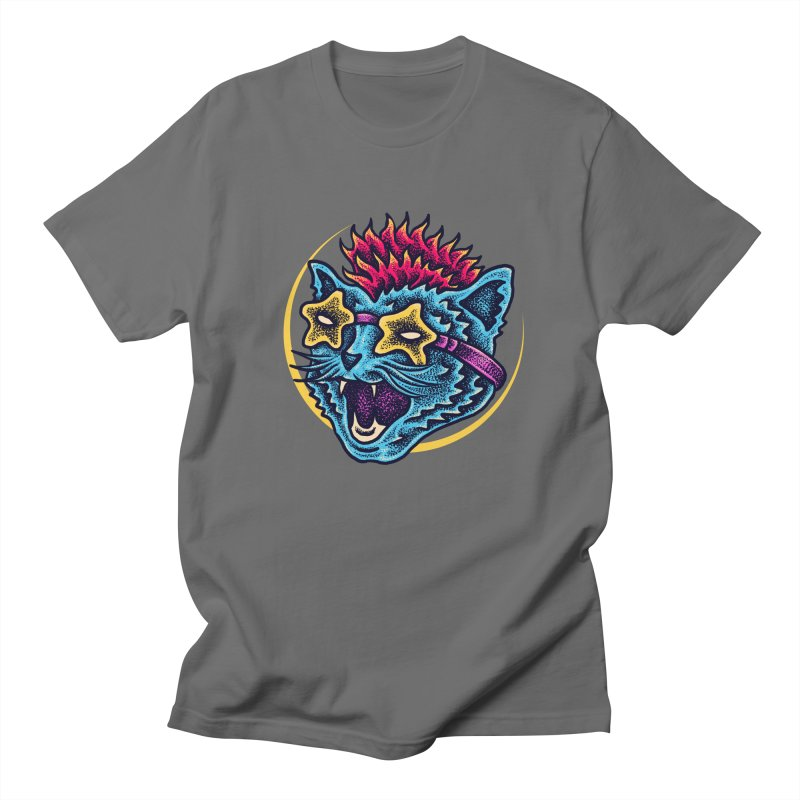 Funky Cat style Men's T-Shirt by barmalisiRTB