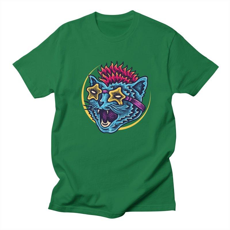 Funky Cat style Men's Regular T-Shirt by barmalisiRTB