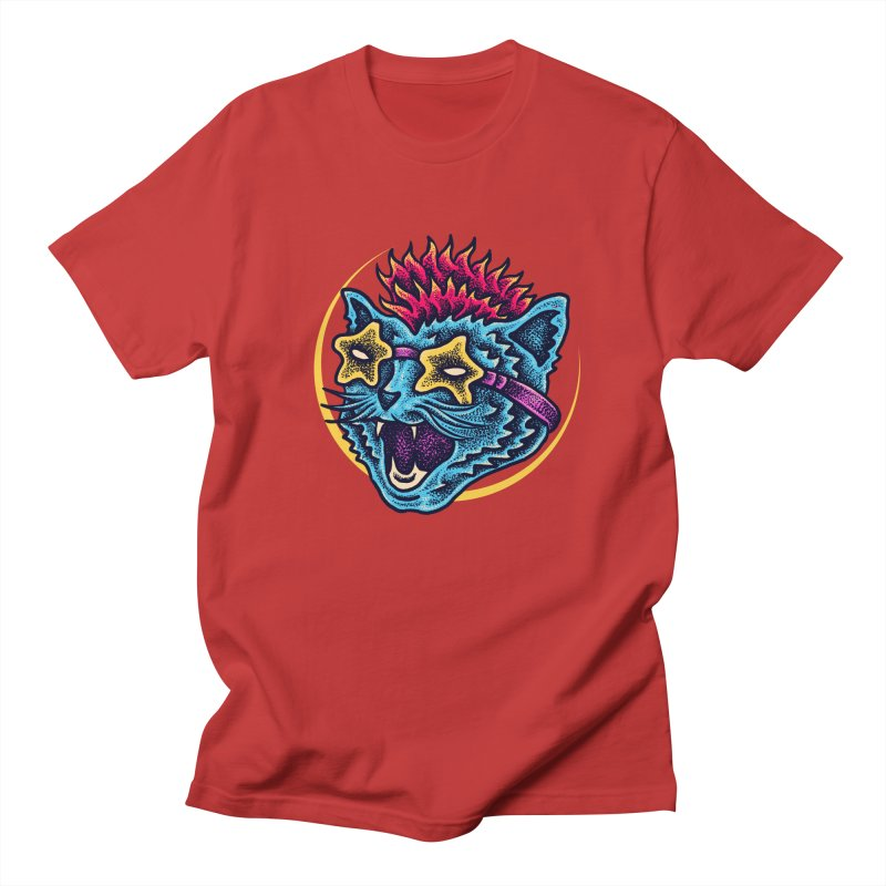 Funky Cat style Women's Regular Unisex T-Shirt by barmalisiRTB