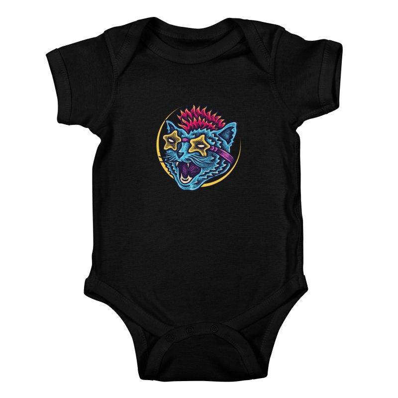 Funky Cat style Kids Baby Bodysuit by barmalisiRTB
