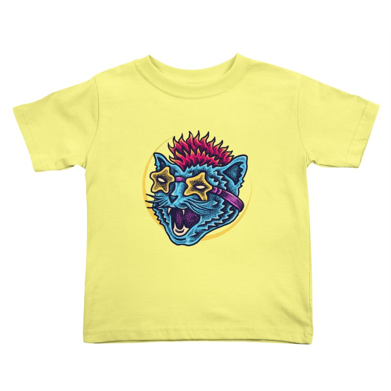 Funky Cat style Kids Toddler T-Shirt by barmalisiRTB