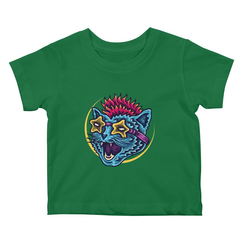 Funky Cat style Kids Baby T-Shirt by barmalisiRTB