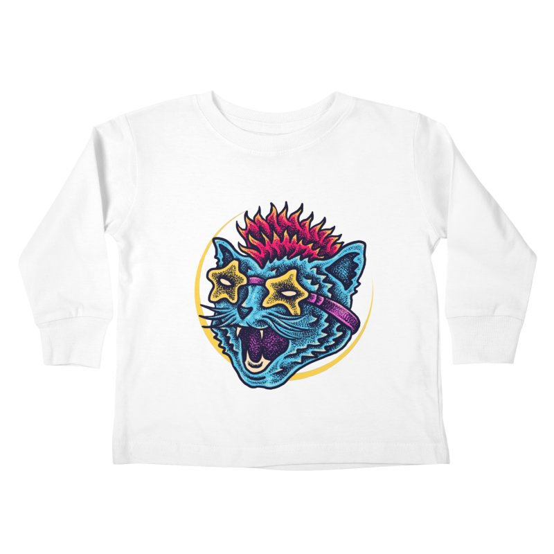 Funky Cat style Kids Toddler Longsleeve T-Shirt by barmalisiRTB