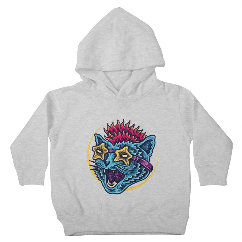 Funky Cat style Kids Toddler Pullover Hoody by barmalisiRTB