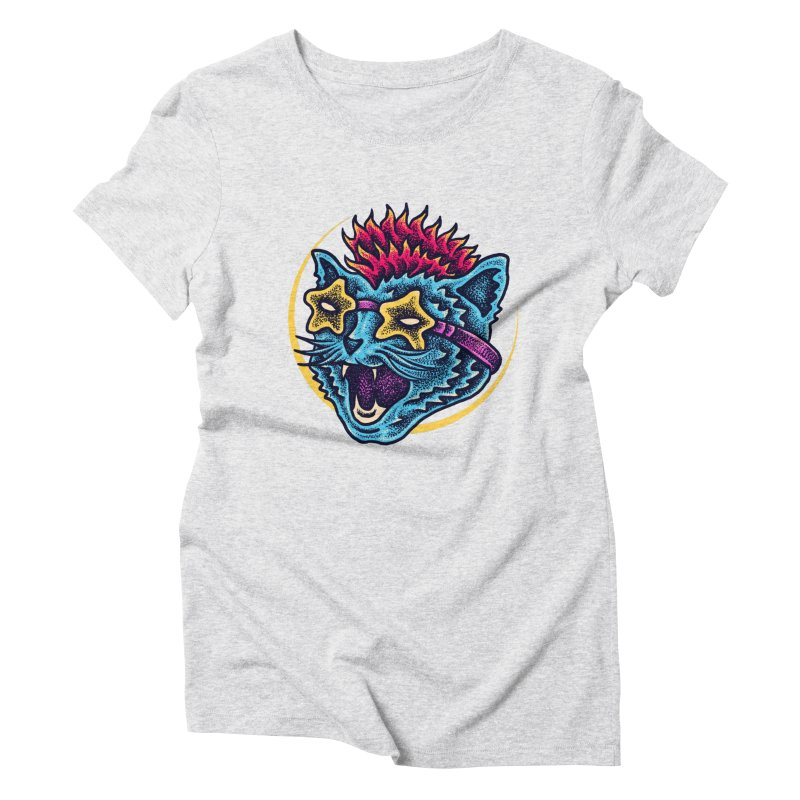 Funky Cat style Women's T-Shirt by barmalisiRTB