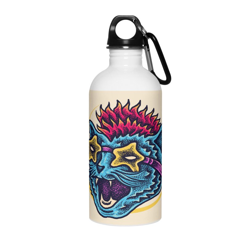 Funky Cat style Accessories Water Bottle by barmalisiRTB
