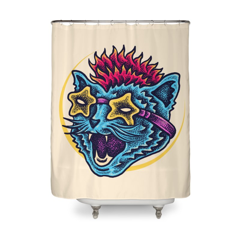 Funky Cat style Home Shower Curtain by barmalisiRTB