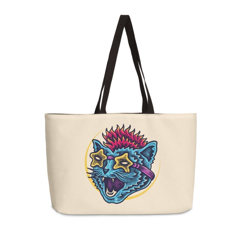 Funky Cat style Accessories Weekender Bag Bag by barmalisiRTB