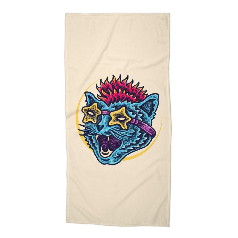 Funky Cat style Accessories Beach Towel by barmalisiRTB