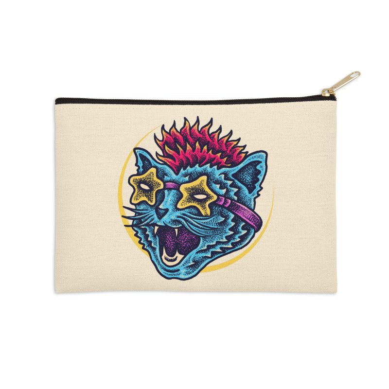 Funky Cat style Accessories Zip Pouch by barmalisiRTB