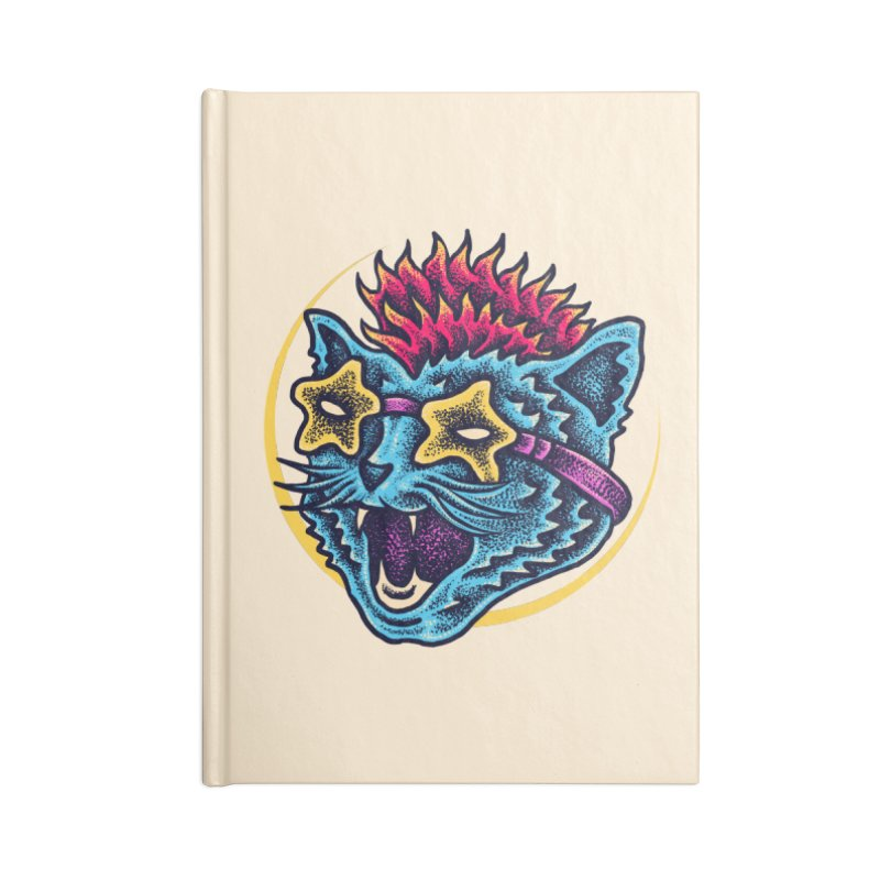 Funky Cat style Accessories Lined Journal Notebook by barmalisiRTB
