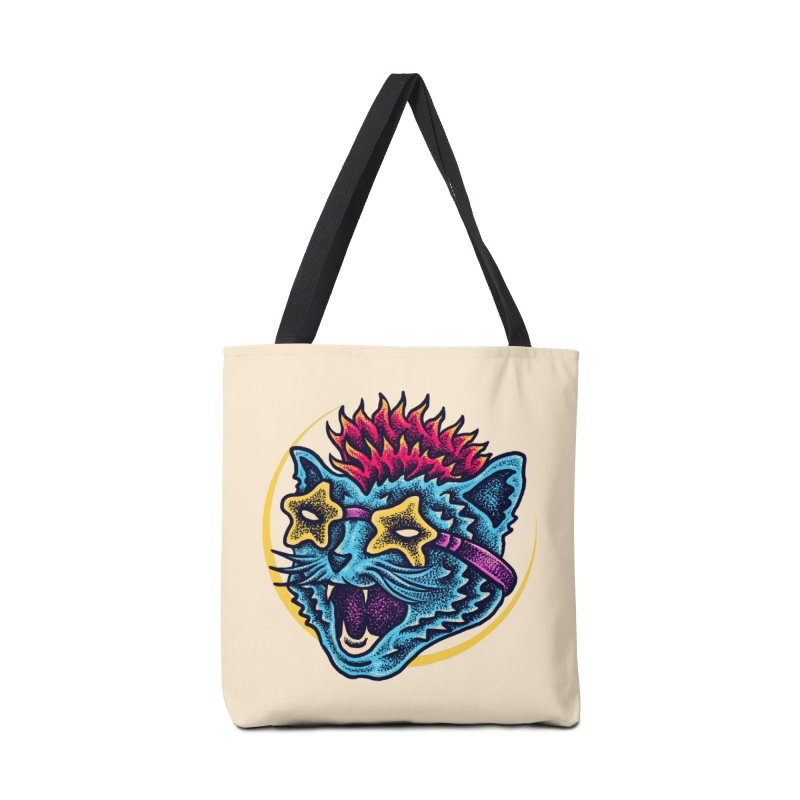 Funky Cat style Accessories Tote Bag Bag by barmalisiRTB