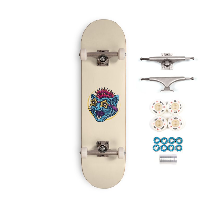 Funky Cat style Accessories Complete - Premium Skateboard by barmalisiRTB