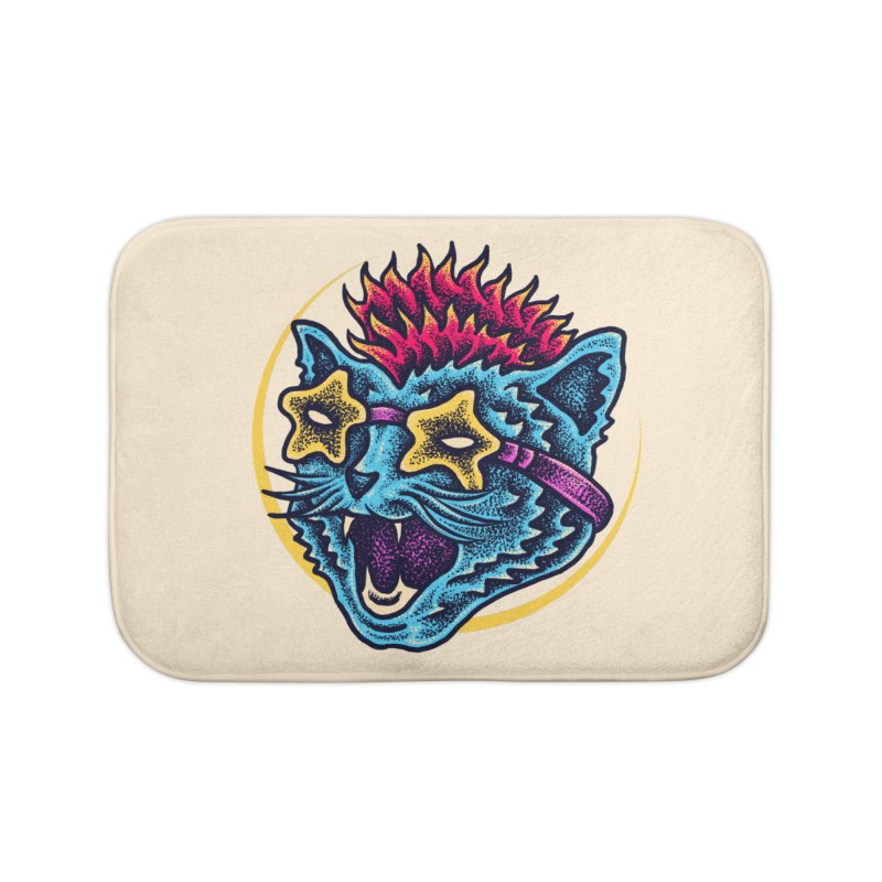Funky Cat style Home Bath Mat by barmalisiRTB