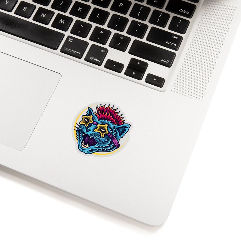 Funky Cat style Accessories Sticker by barmalisiRTB