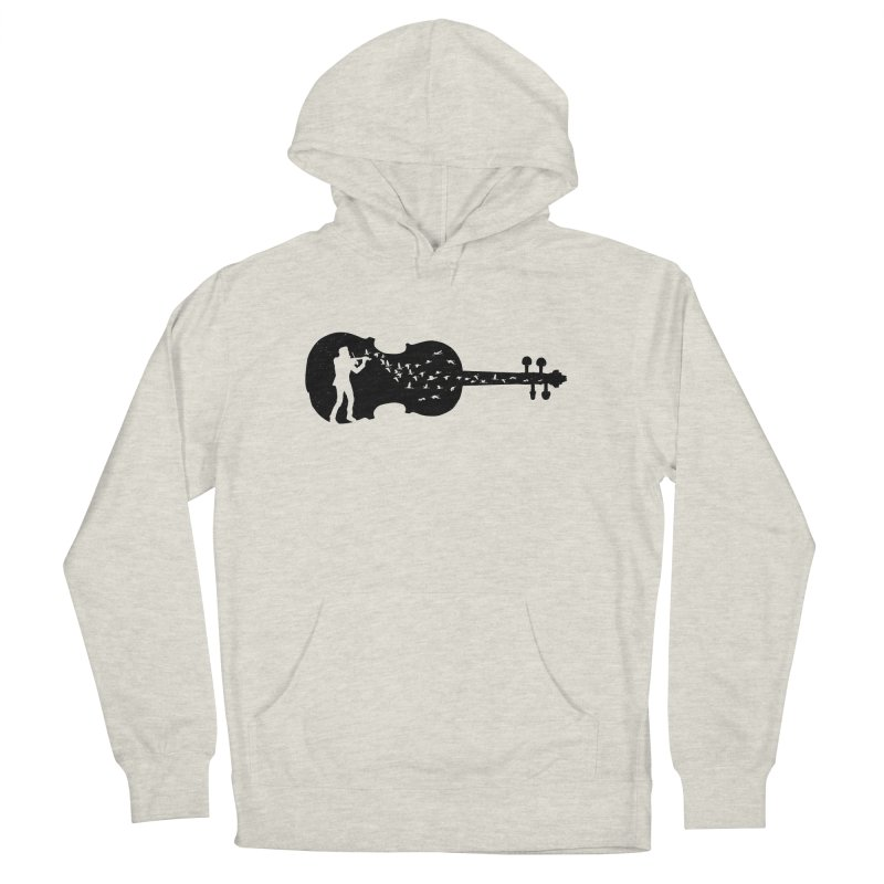 Violinist Men's French Terry Pullover Hoody by barmalisiRTB
