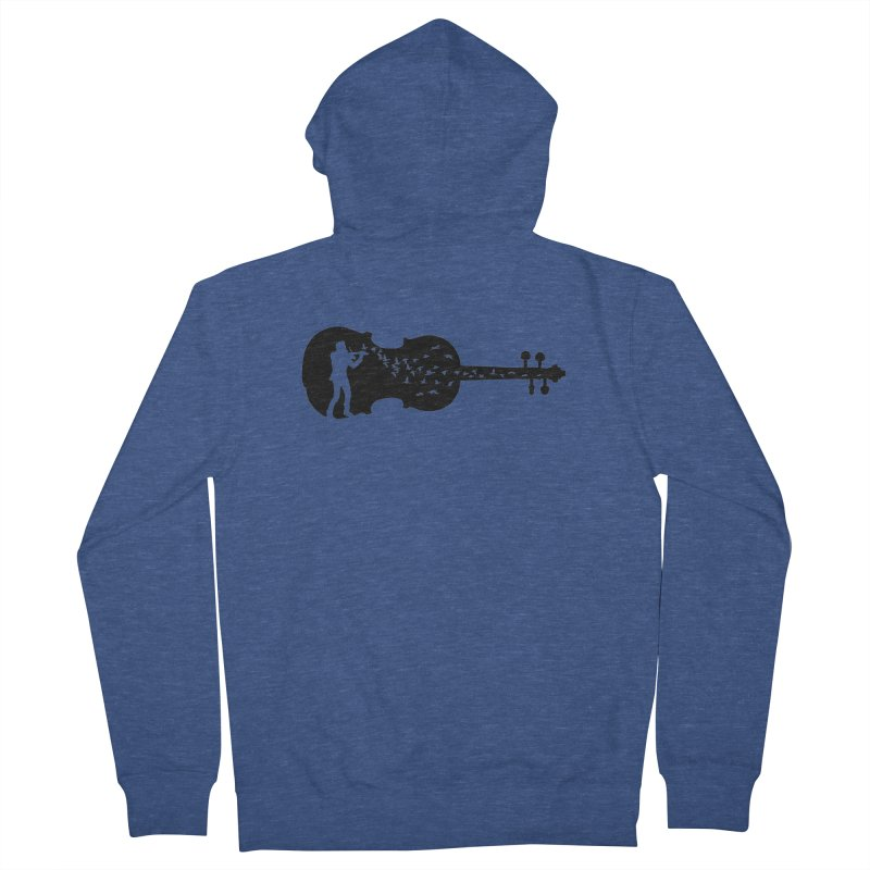 Violinist Women's French Terry Zip-Up Hoody by barmalisiRTB
