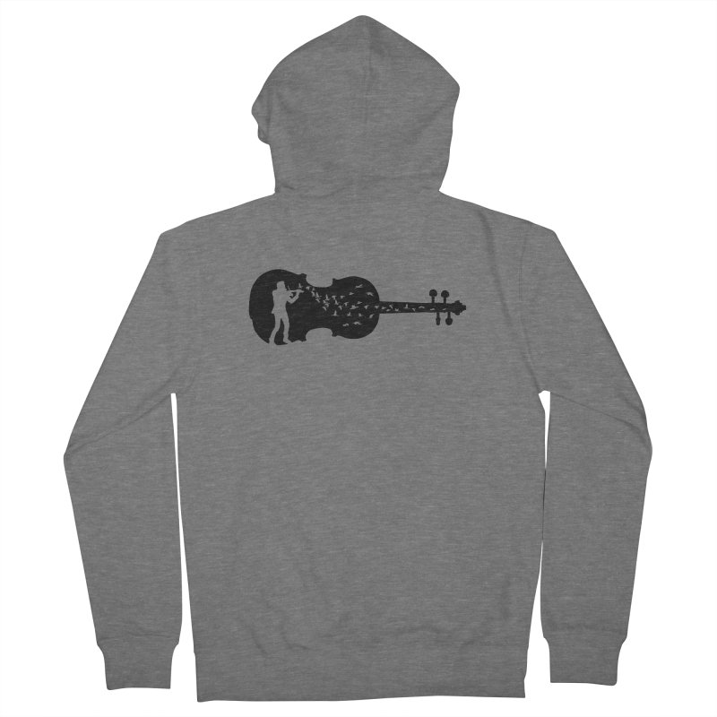 Violinist Men's French Terry Zip-Up Hoody by barmalisiRTB