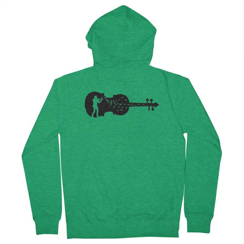 Violinist Men's Zip-Up Hoody by barmalisiRTB