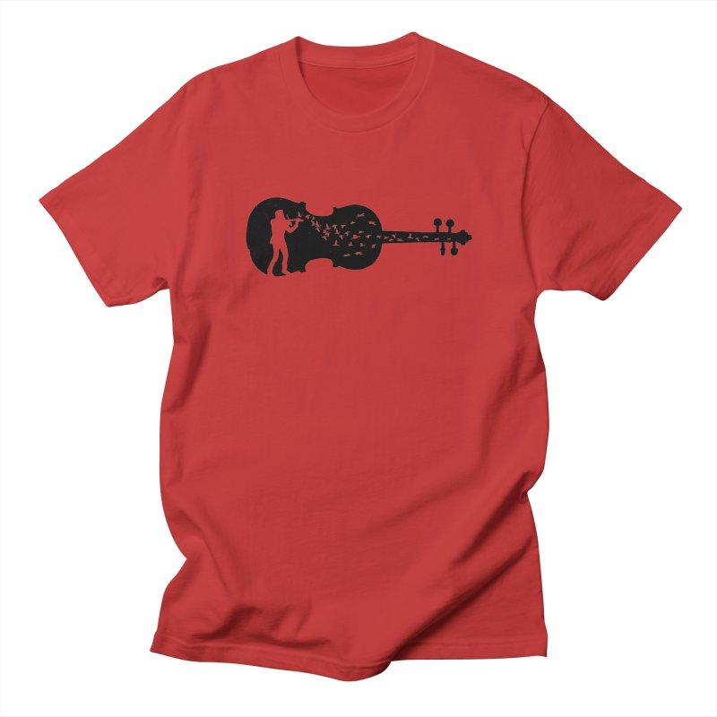Violinist Men's Regular T-Shirt by barmalisiRTB