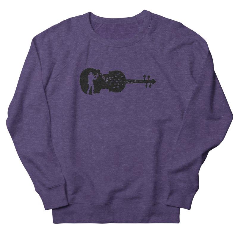 Violinist Men's French Terry Sweatshirt by barmalisiRTB