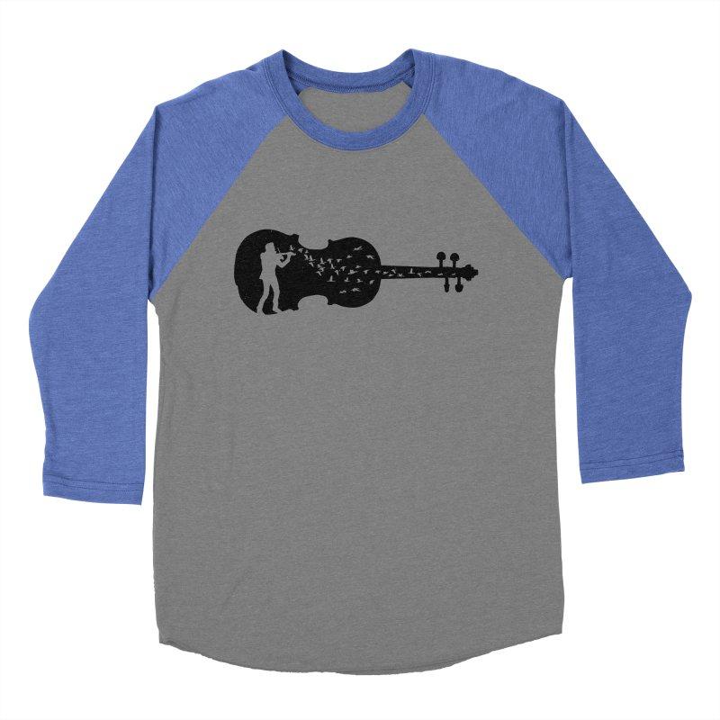 Violinist Men's Baseball Triblend Longsleeve T-Shirt by barmalisiRTB