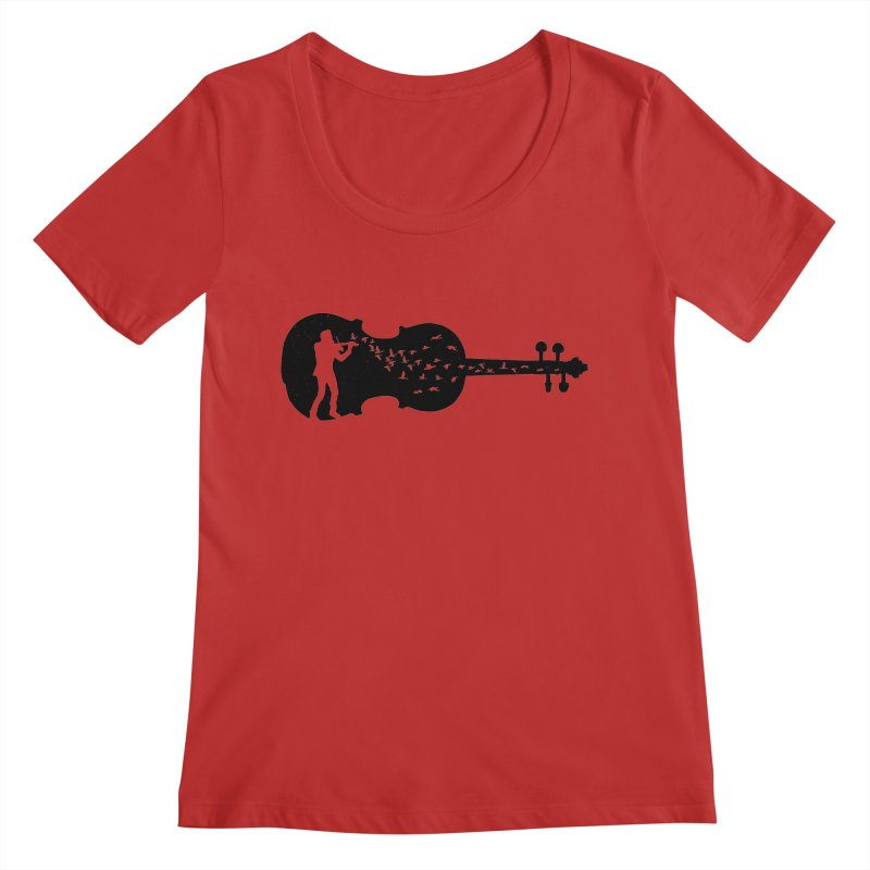 Violinist Women's Regular Scoop Neck by barmalisiRTB