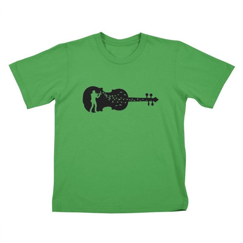 Violinist Kids T-Shirt by barmalisiRTB