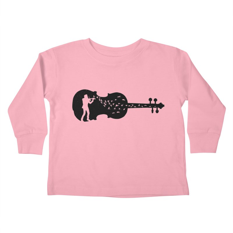 Violinist Kids Toddler Longsleeve T-Shirt by barmalisiRTB