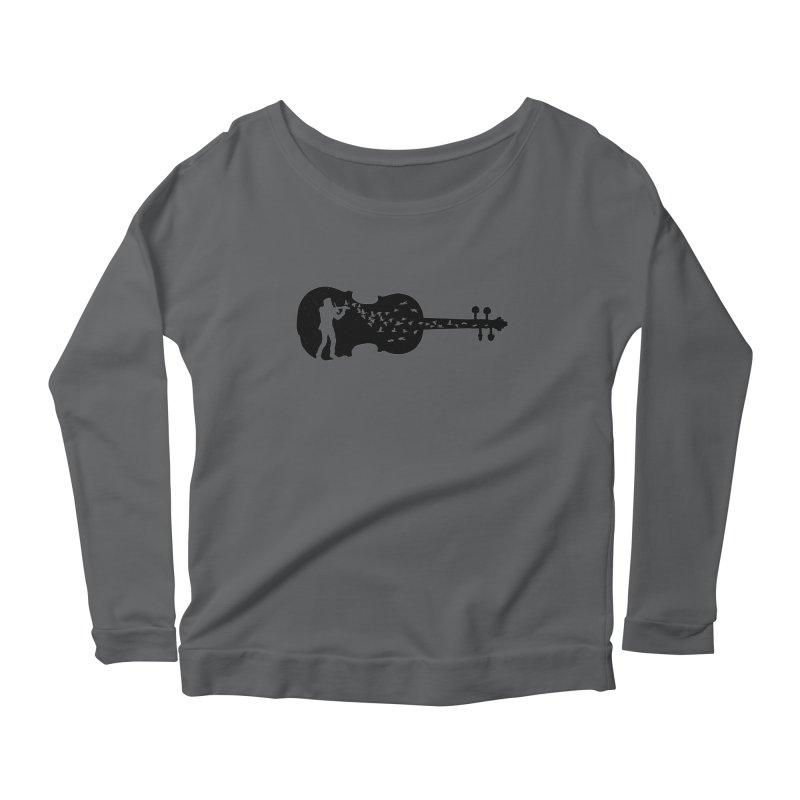 Violinist Women's Scoop Neck Longsleeve T-Shirt by barmalisiRTB