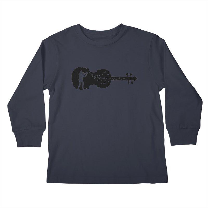 Violinist Kids Longsleeve T-Shirt by barmalisiRTB