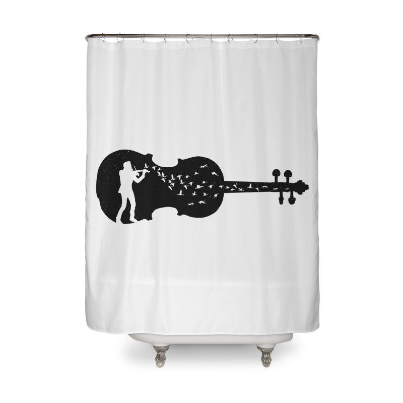 Violinist Home Shower Curtain by barmalisiRTB