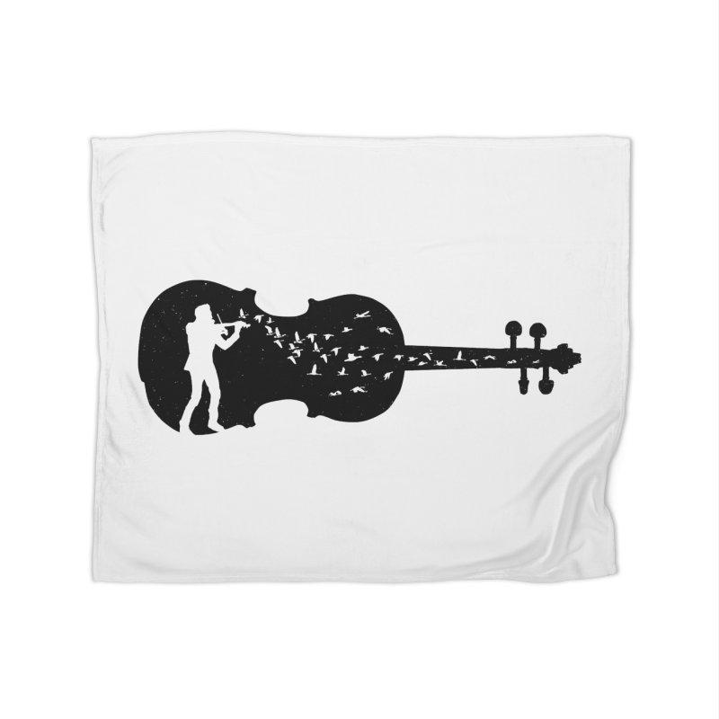 Violinist Home Fleece Blanket Blanket by barmalisiRTB