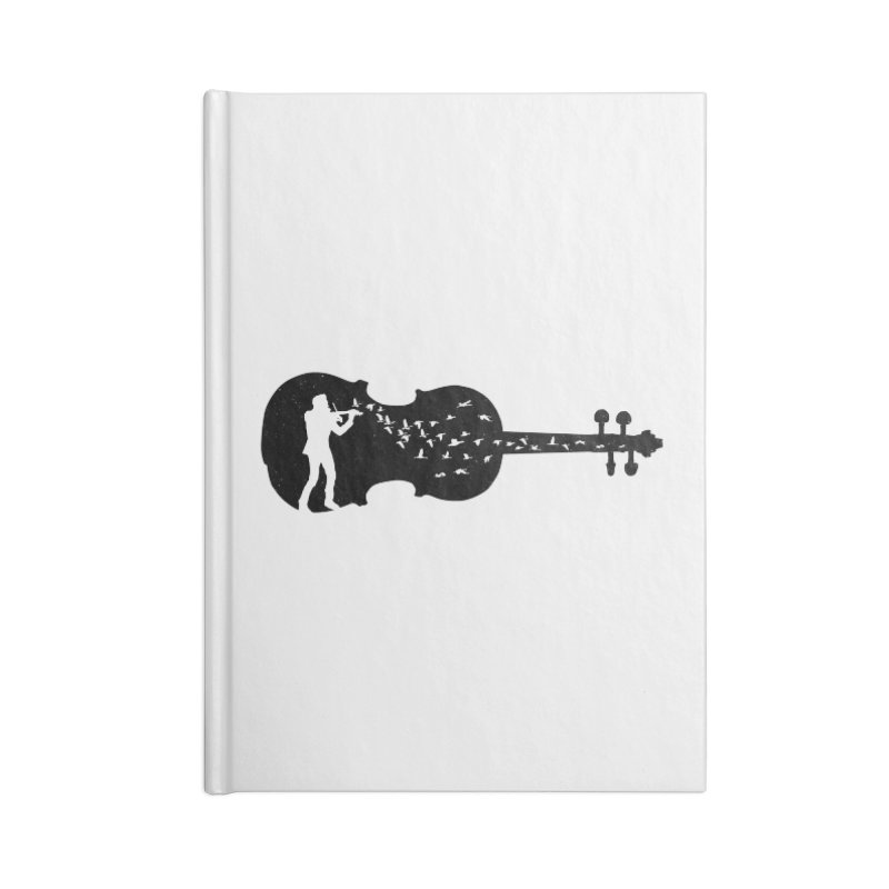 Violinist Accessories Lined Journal Notebook by barmalisiRTB