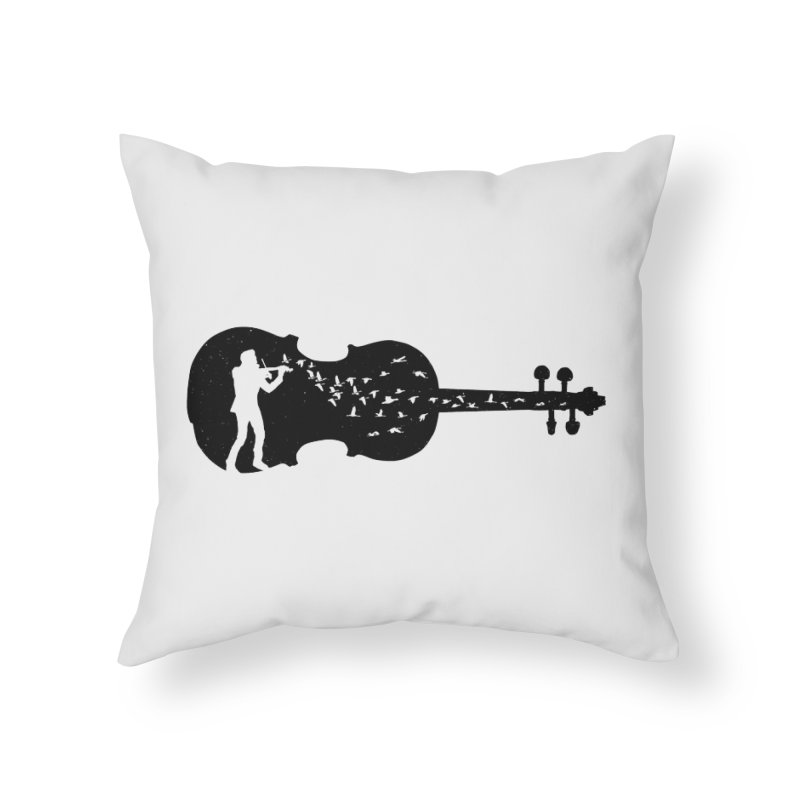 Violinist Home Throw Pillow by barmalisiRTB