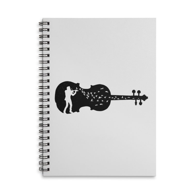 Violinist Accessories Lined Spiral Notebook by barmalisiRTB