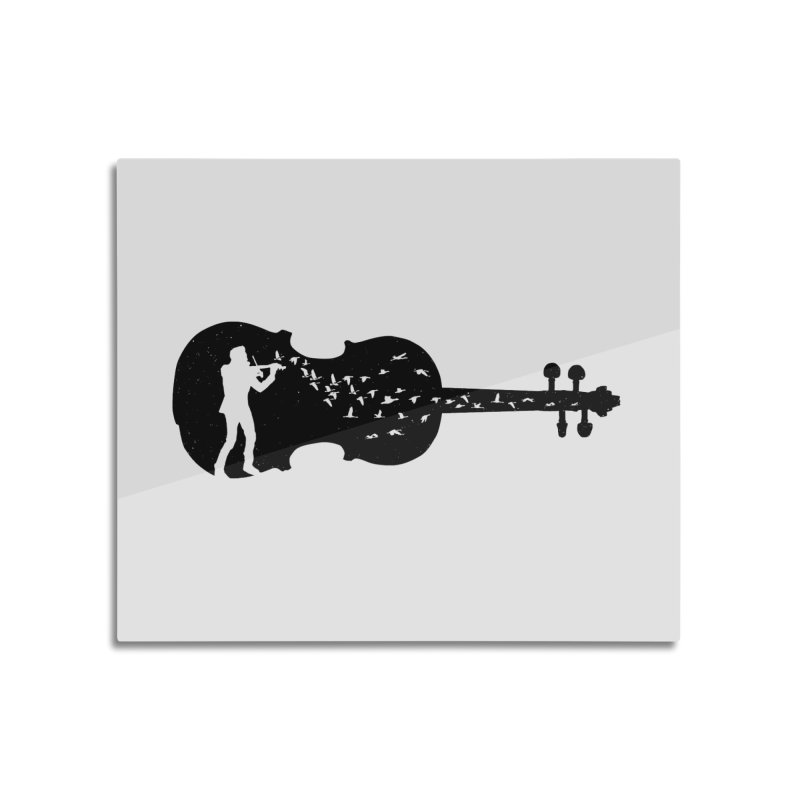 Violinist Home Mounted Aluminum Print by barmalisiRTB
