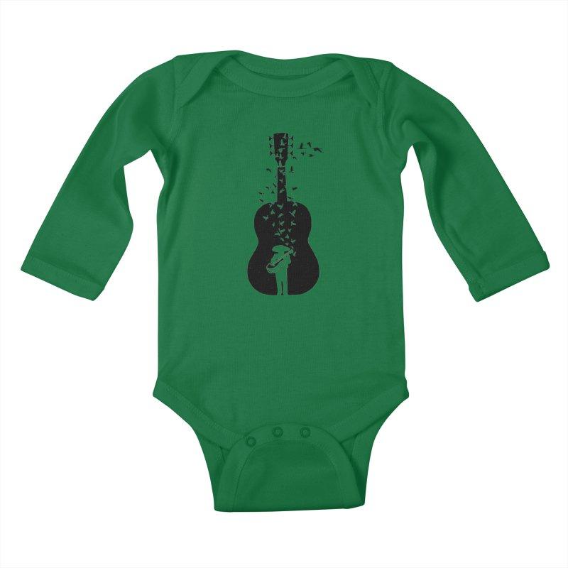 Mexican Mariachi Kids Baby Longsleeve Bodysuit by barmalisiRTB