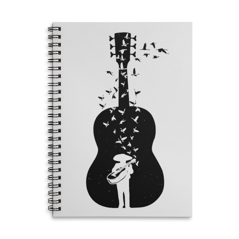 Mexican Mariachi Accessories Lined Spiral Notebook by barmalisiRTB