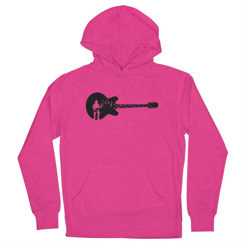 guitar guitarist Women's French Terry Pullover Hoody by barmalisiRTB